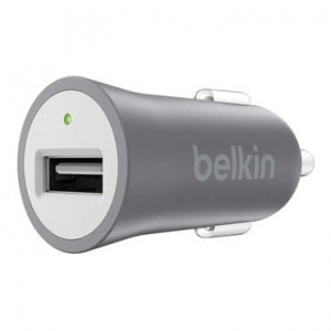 Belkin Metalic Car Charger Grey